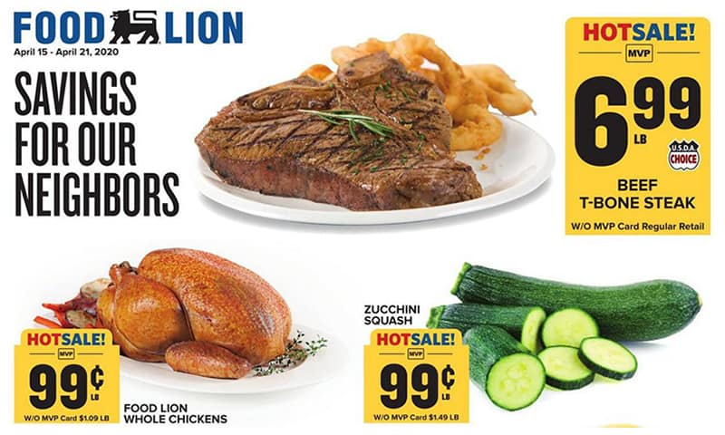 Food Lion ad this week