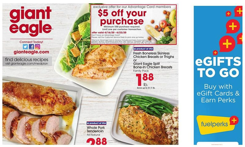 Giant Eagle ad this week