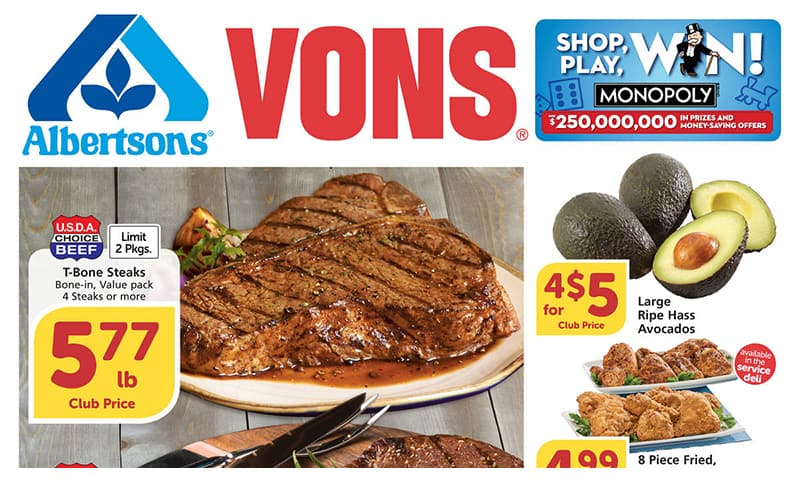 Vons ad this week